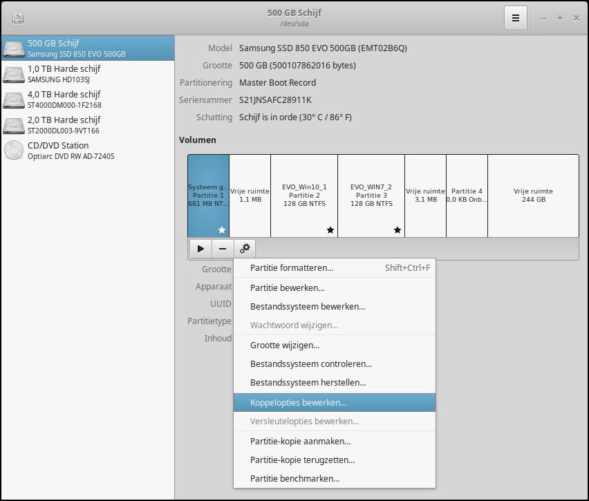 Actieve Partitie Wijzigen.Pc Active Workshop Linux Beheren